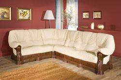 Attēls Klasiskie ādas stūra dīvāni