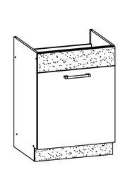 Attēls  Virtuves izlietnes skapītis MODENA MD18/D60Z (Trawa morska)