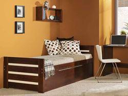Attēls  Divvietiga koka gulta DAWID (4 krāsas)