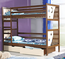 Attēls  Divstāvu koka gulta JACEK (4+12 krāsas)