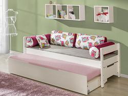 Attēls  Divvietīga koka gulta BORYS (4 krāsas)
