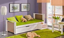 Attēls  Koka gulta KUBUS (12 krāsas)