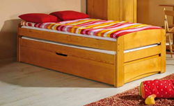 Attēls  Divvietīga koka gulta BARTEK (4 krāsas)