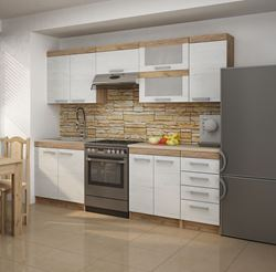 Attēls  Virtuves iekārta MILO 1-5 (Craft bialy)