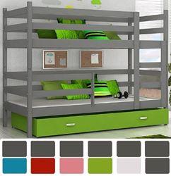 Attēls  Divstāvu gulta JACEK (6 krāsas) Pelēka