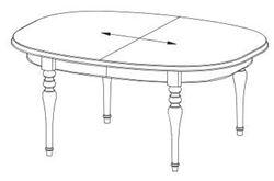 Attēls  Izvelkams galds FLORENCJA FL-S2