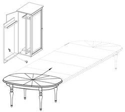Attēls  Izvelkams galds (+ skapis ar galda pagarinājumiem) FLORENCJA FL-S1