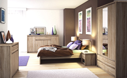 Attēls  Guļamistabas komplekts NORTON